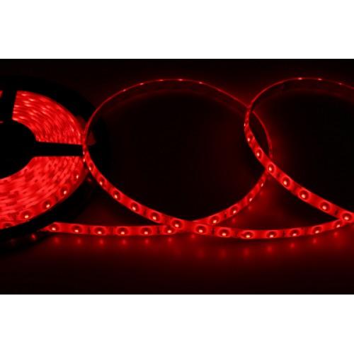 LED лента силикон, 8 мм, IP65, SMD 2835, 60 LED/m, 12 V, цвет свечения красный