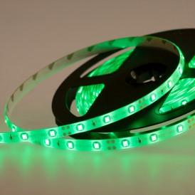 LED лента силикон, 8 мм, IP65, SMD 2835, 60 LED/m, 12 V, цвет свечения зеленый