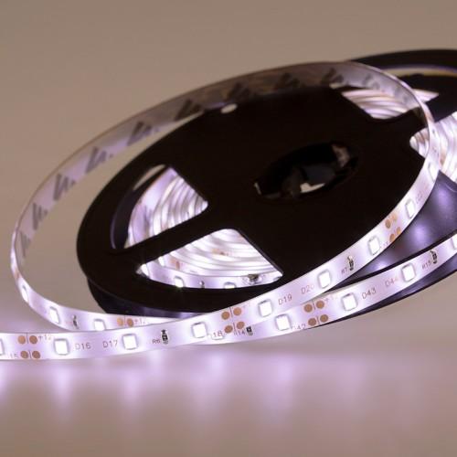 LED лента силикон, 8 мм, IP65, SMD 2835, 60 LED/m, 12 V, цвет свечения белый