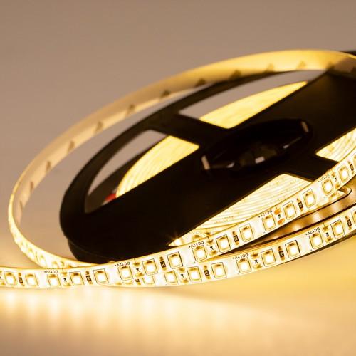 LED лента силикон, 8 мм,  IP65, SMD 2835, 120 LED/m, 12 V, цвет свечения теплый белый