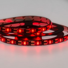 LED лента с USB коннектором 5 В, 8 мм, IP65, SMD 2835, 60 LED/m, цвет свечения красный