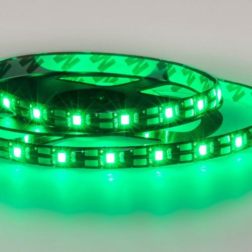 LED лента с USB коннектором 5 В, 8 мм, IP65, SMD 2835, 60 LED/m, цвет свечения зеленый