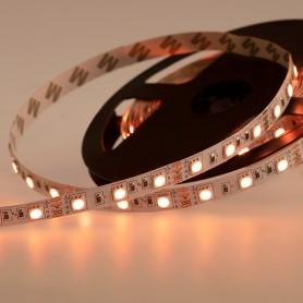 LED лента открытая, 10 мм, IP23, SMD 5050, 60 LED/m, 12 V, цвет свечения RGB