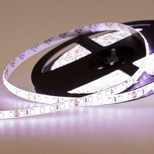 LED лента 24 В, 8 мм, IP65, SMD 2835, 120 LED/m, цвет свечения белый (6000 К)