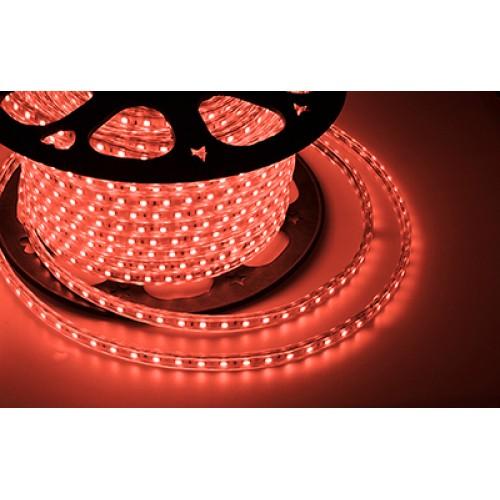 LED лента 220 В, 13х8 мм, IP67, SMD 5050, 60 LED/m, цвет свечения красный
