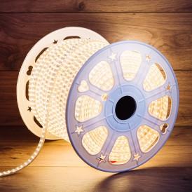 LED лента 220 В, 6.5x17 мм, IP67, SMD 2835, 180 LED/m, цвет свечения теплый белый, 100 м