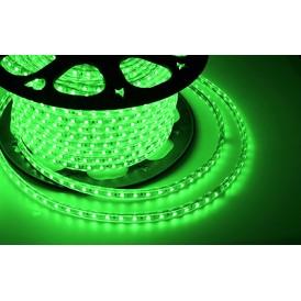 LED лента 220 В, 10х7 мм, IP67, SMD 2835, 60 LED/m, цвет свечения зеленый, бухта 100 м