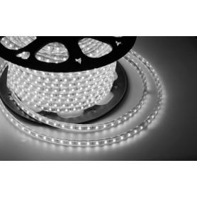 LED лента 220 В, 10х7 мм, IP67, SMD 2835, 60 LED/m, цвет свечения белый, бухта 100 м