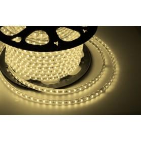 LED лента 220 В, 10х7 мм, IP67, SMD 2835, 60 LED/m, цвет свечения теплый белый, бухта 100 м