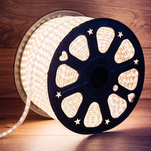 LED лента 220 В, 6.5x13 мм, IP67, SMD 5730, 60 LED/m, цвет свечения теплый белый, 100 м