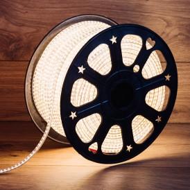 LED лента 220 В, 6x10.6 мм, IP67, SMD 3014, 120 LED/m, цвет теплый белый, 100 м