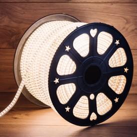 LED лента 220 В, 6.5x15 мм, IP67, SMD 3014, 240 LED/m, цвет свечения теплый белый, 100 м