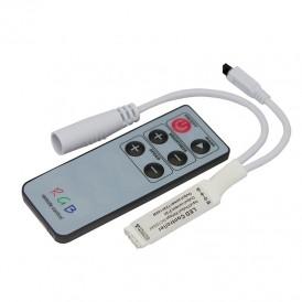LED RGB мини контроллер инфракрасный (IR) 6 кнопок 12-24 V/6 А LAMPER