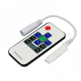 LED RGB мини контроллер радио (RF) 10 кнопок 12-24 V/6 А LAMPER