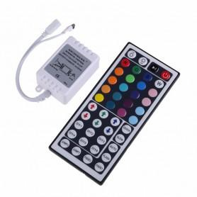 LED мини контроллер ИК(IR) 72 W/144 W, 44 кнопки, 12 V/24 V