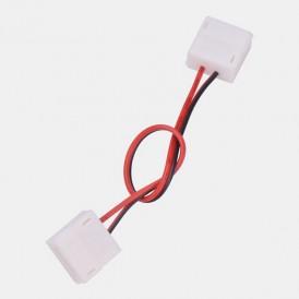 Коннектор соединительный (2 разъема) для одноцветных светодиодных лент с влагозащитой шириной 10 мм, длина 15 см LAMPER