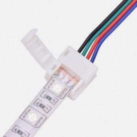 Коннектор питания (1 разъем) для RGB светодиодных лент с влагозащитой шириной 10 мм LAMPER