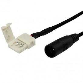Коннектор питания с джеком для одноцветных светодиодных лент шириной 8 мм LAMPER