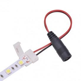 Коннектор питания с джеком для одноцветных светодиодных лент с влагозащитой шириной 10 мм LAMPER