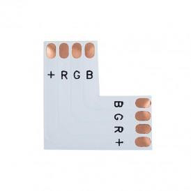 Плата соединительная (L) для RGB светодиодных лент шириной 10 мм LAMPER