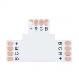 Плата соединительная (T) для RGB светодиодных лент шириной 10 мм LAMPER