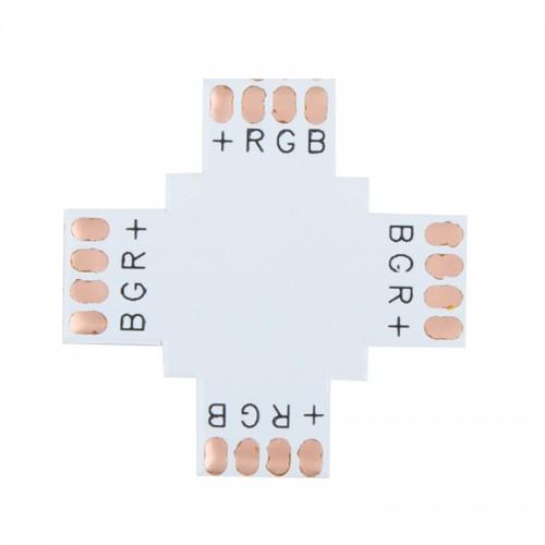 Плата соединительная (X) для RGB светодиодных лент шириной 10 мм LAMPER