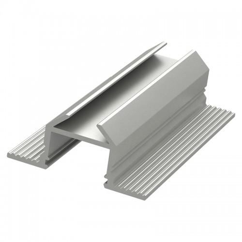 Алюминиевый анодированный профиль накладной/врезной угловой
