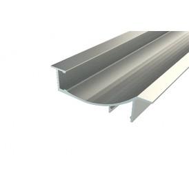 Профиль встраиваемый декоративный алюминиевый 1670-2, 2 м REXANT