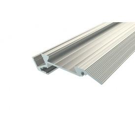 Профиль для ступеней без резиновой вставки алюминиевый 6718-2 2 м REXANT