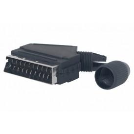 Разъем на кабель штекер SCART, пластик  REXANT