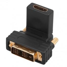 Переходник штекер DVI-D - гнездо HDMI, поворотный  REXANT