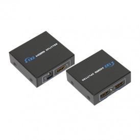 Делитель гнездо HDMI на 2 гнезда HDMI, металл  REXANT