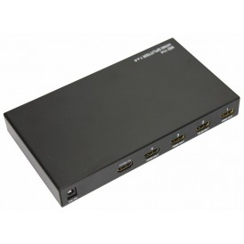 Делитель гнездо HDMI на 4 гнезда HDMI, металл  REXANT