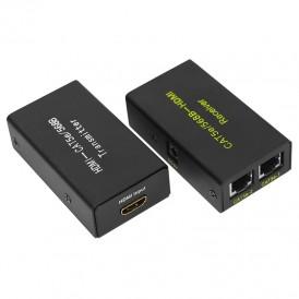 HDMI удлинитель по витой паре RJ-45(8P-8C) кат. 5е/6, передатчик+приемник  REXANT
