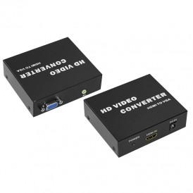 Конвертер HDMI на VGA + Стерео 3,5 мм, металл  REXANT
