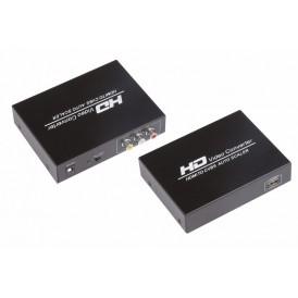 Конвертер HDMI на 3 RCA, металл  REXANT