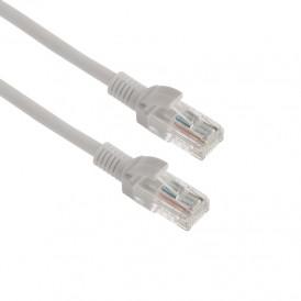 СМАРТКИП Пaтч-корд U/UTP, категория 5e, RJ45-RJ45, неэкранированный, омедненный (CCA), PVC серый, 0,5м