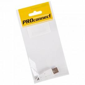 Переходник USB PROconnect, штекер USB-A - штекер mini USB 5 pin, 1 шт., пакет БОПП