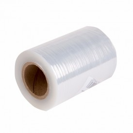 Стретч-пленка 100 мм х 20 мкм, вес 0,23 кг, прозрачная (первичное сырьё)