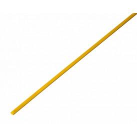 Термоусаживаемая трубка REXANT 1,5/0,75 мм, желтая, упаковка 50 шт. по 1 м