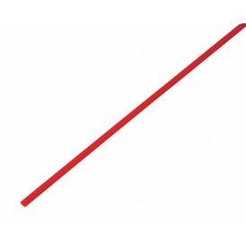 Термоусаживаемая трубка REXANT 1,5/0,75 мм, красная, упаковка 50 шт. по 1 м