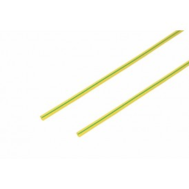 Термоусаживаемая трубка REXANT 1,5/0,75 мм, желто-зеленая, упаковка 50 шт. по 1 м