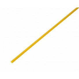 Термоусаживаемая трубка REXANT 3,0/1,5 мм, желтая, упаковка 50 шт. по 1 м