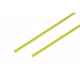 Термоусаживаемая трубка REXANT 3,0/1,5 мм, желто-зеленая, упаковка 50 шт. по 1 м