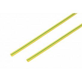 Термоусаживаемая трубка REXANT 4,0/2,0 мм, желто-зеленая, упаковка 50 шт. по 1 м