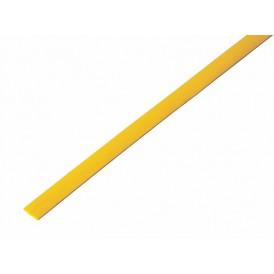 Термоусаживаемая трубка REXANT 5,0/2,5 мм, желтая, упаковка 50 шт. по 1 м