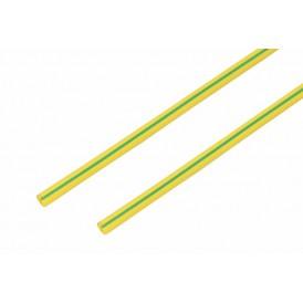 Термоусаживаемая трубка REXANT 6,0/3,0 мм, желто-зеленая, упаковка 50 шт. по 1 м