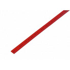 Термоусаживаемая трубка REXANT 8,0/4,0 мм, красная, упаковка 50 шт. по 1 м
