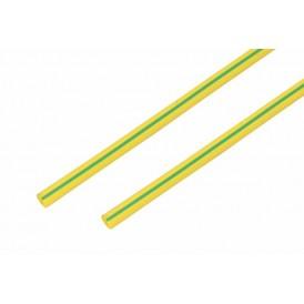 Термоусаживаемая трубка REXANT 8,0/4,0 мм, желто-зеленая, упаковка 50 шт. по 1 м