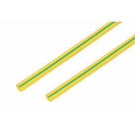 Термоусаживаемая трубка REXANT 10,0/5,0 мм, желто-зеленая, упаковка 50 шт. по 1 м